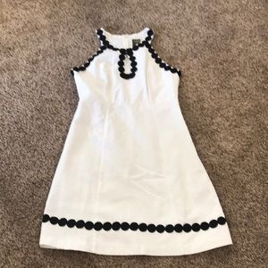 White and black Taylor Dress